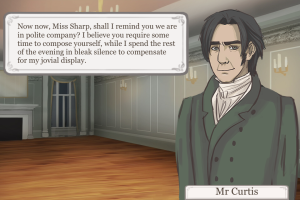 Oh, Mr. Curtis, do remind me we're in polite company. Oh, do remind me to compose myself. Oh, yes.